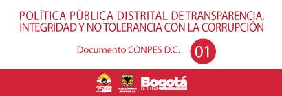 Banner con enlace a información sobre la Primera Política Pública Distrital de Transparencia