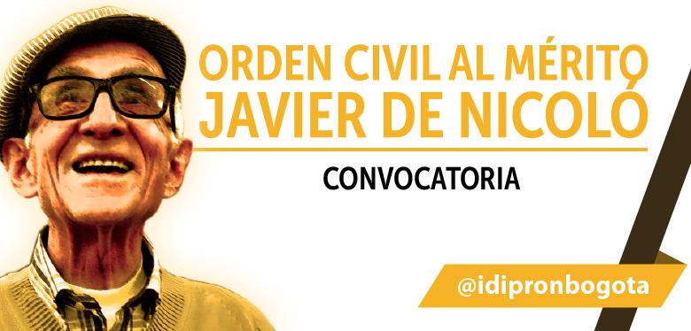 Convocatoria Orden Civil al Mérito Javier De Nicoló