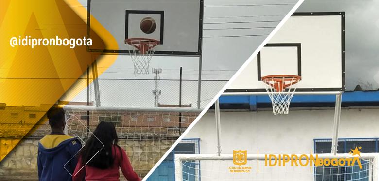 Nuevas canchas de fútbol y baloncesto en parques para las UPIS de Arcadia y San Francisco