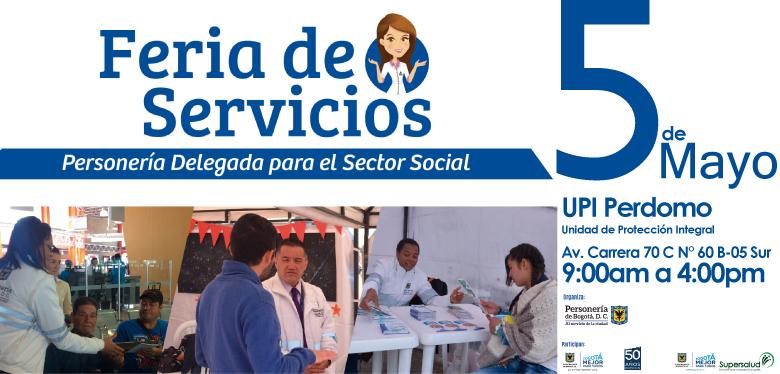 Invitación a Feria de servicios 5 de mayo de 2018 UPI Perdomo