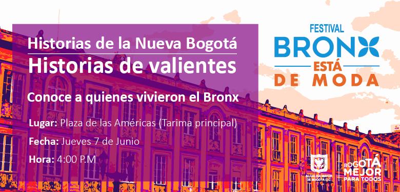 Invitación a evento Historias de la nueva Bogotá